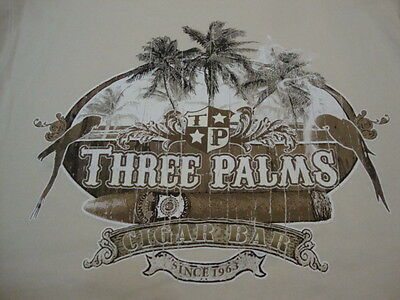 Caribbean Apparel (Caribbean Apparel Three Palms Cigar Bar Vacation Souvenir Beach T Shirt M)