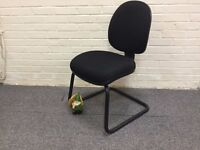 Black Fabric Cantilever Frame Meeting Chair