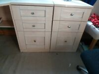 Two draw and filing draw IKEA cabinets
