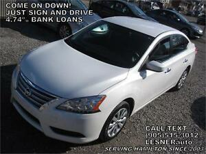 2013 NISSAN SENTRA SL -AUTO A/C LOADED- 95,KM-  LESNERdirect