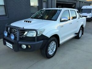 2012 Toyota Hilux KUN26R MY12 SR5 (4x4) White 4 Speed Automatic Dual Cab Pick-up Peakhurst Hurstville Area Preview