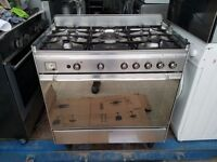 Stainless Steel 'Smeg' Range Gas Cooker - Good Condition / Free local delivery