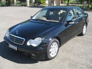 2002 Mercedes-Benz C200 Kompressor W203 MY2003 Classic Black 5 Speed Sports Automatic Sedan Enfield Port Adelaide Area Preview