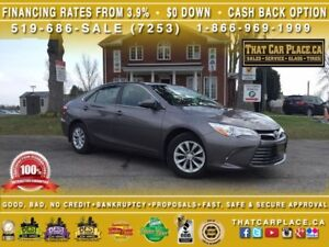 2016 Toyota Camry LE-Clean Carproof-$71/Wk-RearCam-Bluetooth-AUX