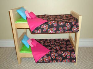"Solid Wood Doll Bunk Beds and other furniture for 18"" dolls"