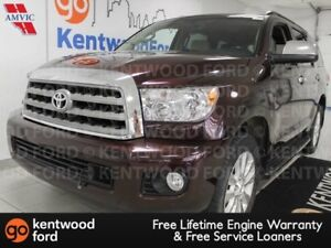 2014 Toyota Sequoia Platinum 4WD, NAV, sunroof, heated power lea