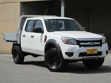 2010 Ford Ranger PK XL Crew Cab Hi-Rider White 5 Speed Automatic Cab Chassis Blair Athol Port Adelaide Area Preview