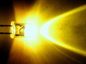 12 St. flackernde LED 5mm gelb Flackerlicht, Lagerfeuer, Kerze inkl. Widerstand