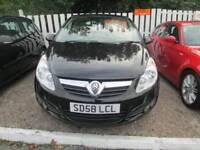 Vauxhall Corsa 1.4 i 16v Design 3dr (a/c) Good / Bad Credit Car Finance (black) 2008