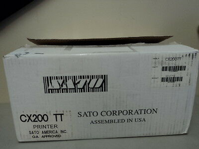 New Sato Cx200tt Thermal Barcode Label Printer Serial Parallel Cx200 Tt