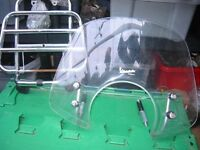 Piaggio Vespa GTS chrome carrier ,windscreen ,top box....