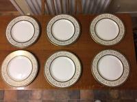 Six Aragon Minton Dinner Plates 27cm diameter - £90