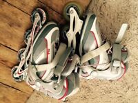 Inline skaters - almost new - size 4Uk
