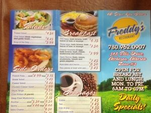 Freddy's Restaurant for sale $68,000