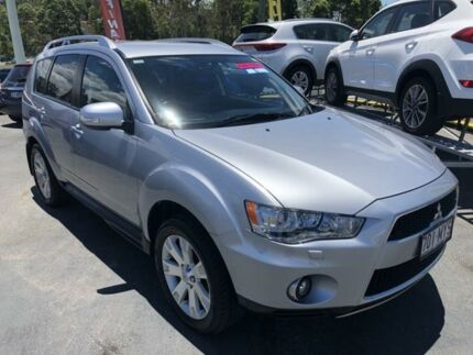 2010 Mitsubishi Outlander ZH MY10 XLS Silver 6 Speed Constant Variable Wagon Underwood Logan Area Preview
