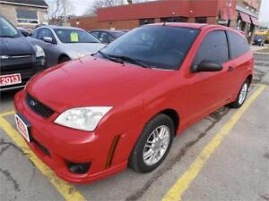2007 Ford Focus SE Auto Hatchback Sunroof Red Only 119,000km