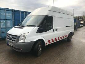 Ford Transit 100 T350L RWD Panel Van with internal sortimo storage racking & 2 extra seats