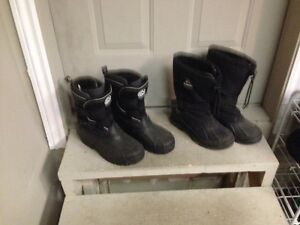 two pairs of boots $5.00 each pair