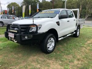 2013 Ford Ranger PX XL 3.2 (4x4) White 6 Speed Manual Dual Cab Chassis Clontarf Redcliffe Area Preview