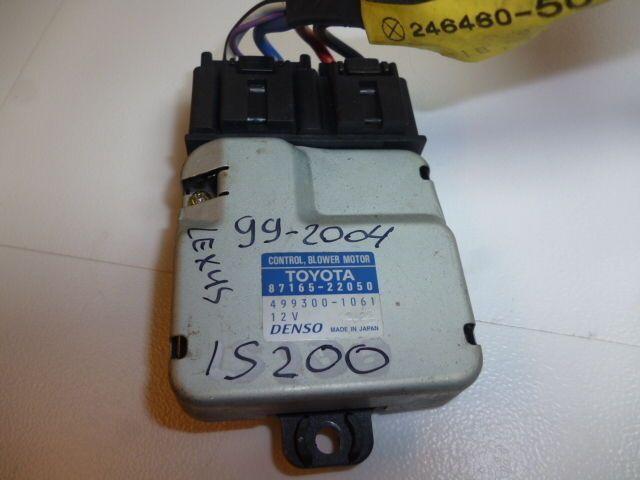99-05 LEXUS IS200 HEATER / AC BLOWER COMPUTER ECU MODULE 87165-22050 REGULATOR