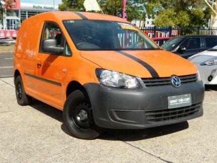 2011 Volkswagen Caddy 2K MY12 TDI250 Orange 7 Speed Auto Direct Shift Van