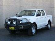 2012 Toyota Hilux KUN26R MY12 SR (4x4) White 5 Speed Manual Dual Cab Pickup Condell Park Bankstown Area Preview