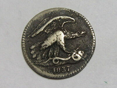 USA America Feuchtwanger 1 Cent Eagle 1837.
