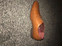 tan leather look formal shoes