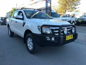 2014 Ford Ranger PX XLS 3.2 (4x4) White 6 Speed Automatic Dual Cab Utility Waratah Newcastle Area Preview