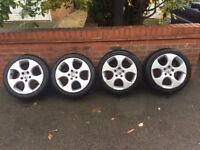 Genuine Golf GTI Alloys And Tyres-Bargain At £350!!