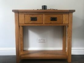 Hallway or Living Room Wooden Console Table/Side Table with drawers (Oak)