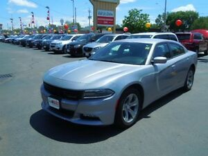 2015 DODGE CHARGER SXT- HEATED FRONT SEATS, REMOTE STARTER, BLUE