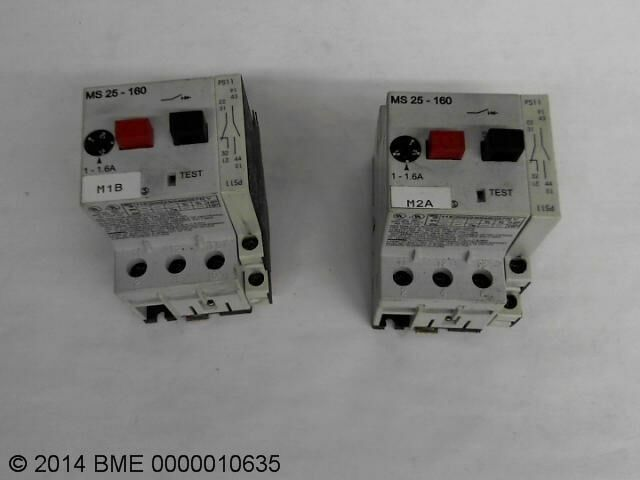 AUTOMATION DIRECT MS25-160 MANUAL MOTOR STARTER/CONTACTOR