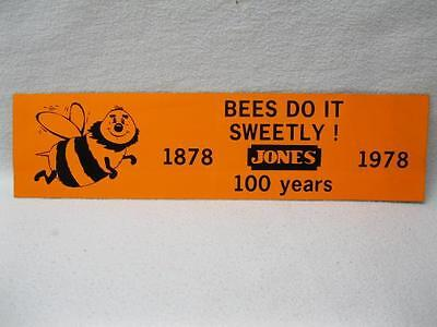 Bees Do It... F W Jones Bee Keeping Suppiles Catalog Quebec 100 Yr Sticker 1978
