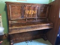 "The ""Cremona"" Piano by Squire & Longson, Upright Iron Grand"