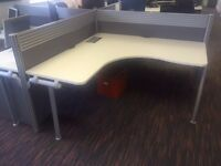 2x Office Desk Quads - can be sold separately. Excellent condition. £40 for one quad or £75 for both