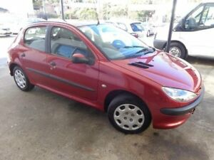 2006 Peugeot 206 XR Burgundy 5 Speed Manual Hatchback Sylvania Sutherland Area Preview