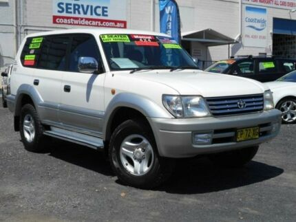 2000 Toyota Landcruiser Prado KZJ95R TX (4x4) White 5 Speed Manual 4x4 Wagon Tuggerah Wyong Area Preview