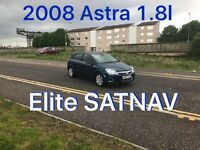 £1495 2008 ASTRA Elite 1.8l* like focus golf megane scenic civic corolla mondeo insignia,