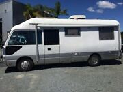 1995 Toyota Coaster HIGH ROOF LWB White & Silver Motor Home RWD Nerang Gold Coast West Preview