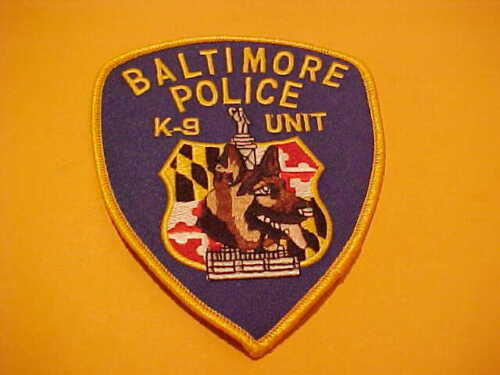BALTIMORE MARYLAND K-9 POLICE PATCH SHOULDER SIZE UNUSED LAST ONE