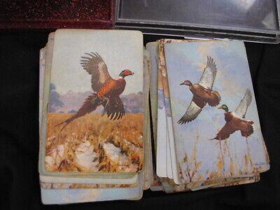 Vintage 2 Decks Playing Cards, Pheasants  & Wood Ducks Richard E. Bishop USA