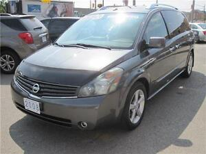 2008 Nissan Quest SE| LEATHER | NAV | 2 DVD | 5 ROOFS| REAR CAM|