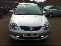 HONDA CIVIC 2004 FACELIFT SILVER BREAKING FOR SPARES TEL 07814971951 HAVE FEW IN STOCK