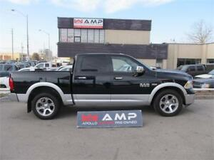2014 Ram 1500 Laramie 4X4 5.7L RIMS CHROME, LEATHER NAVI, CAMERA