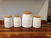 Ceramic food storage jars (set of four)