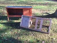 Rabbit/Guinea Pig Hutches....1 Living Hutch and 1 Day Hutch