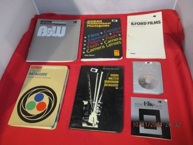 Lot Of 6 Vintage Kodak Photography Books Darkroom Dataguide Photoguide