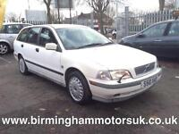 1998 (S Reg) Volvo V40 2 5DR Estate WHITE + MEGA LOW MILES