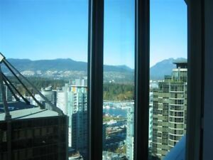 """Fully Furnished 1BR Apartment - Coal Harbour - Vancouver"""